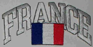 France Embroidered Flag Patch, style 03.